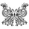 Vektor Cliparts: Vintage schwarz Schmetterling