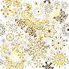 Vector clipart: Christmas golden pattern