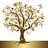 Golden tree | Stock Vector Graphics