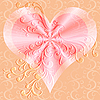 Vector clipart: Pink valentines background
