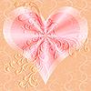 Векторный клипарт: Розовый фон Валентина