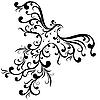 Векторный клипарт: Декоративные старинные птицы