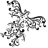 Vector clipart: Decorative vintage bird
