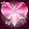 Vector clipart: Pink valentines frame