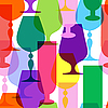 Vector clipart: Colorful limpid wineglasses
