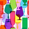 Векторный клипарт: Красочный прозрачный бокалы