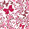 Vector clipart: Seamless white floral pattern