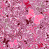 Vector clipart: Pink seamless floral pattern