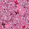 Vektor Cliparts: Rosa nahtlose Blumenmuster