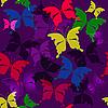 Векторный клипарт: Бесшовные темным рисунком фиолетовый