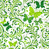 Vector clipart: Repeating floral pattern