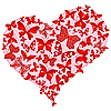 Vector clipart: Large pink romantic heart