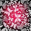Vector clipart: Seamless dark floral pattern