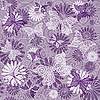 Vector clipart: Seamless violet floral pattern