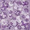 Векторный клипарт: Бесшовный фиолетовый цветочный узор