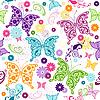 Векторный клипарт: Бесшовные белый цветочный узор