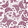 Векторный клипарт: Цветочный узор фиолетовый Валентина