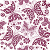 Vector clipart: Floral purple valentine pattern