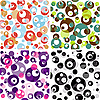 Vector clipart: Set of seamless translucent patterns
