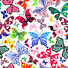 Vector clipart: Seamless pattern with butterflies and hearts