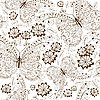 Vector clipart: Repeating floral vintage pattern