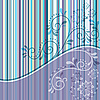 Vector clipart: Striped card with curls