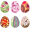 Set of Easter`s eggs