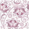 Burgundy seamless floral pattern | Stock Vector Graphics