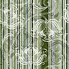 Vector clipart: Striped floral pattern