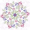Векторный клипарт: Цветочный красочный орнамент