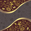 Vector clipart: Grey and purple-gold card