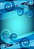 Векторный клипарт: Синие карты