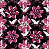 Векторный клипарт: Бесшовные черный цветочный узор