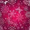 Векторный клипарт: Бесшовные фиолетовый рисунок рождество