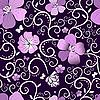 Векторный клипарт: Фиолетовый цветочным узором