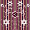 Векторный клипарт: Цветочные полосатый узор бесшовные