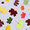 Векторный клипарт: Осенний бесшовный фон