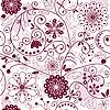 Векторный клипарт: Бело-фиолетовый бесшовные цветочный узор