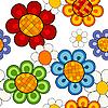 Векторный клипарт: Легкое яркий цветочный узор
