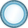 Векторный клипарт: Белый и голубой пластины