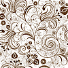 Repeating white-brown floral pattern | Stock Vector Graphics