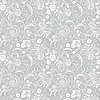 Vector clipart: Seamless gray floral pattern
