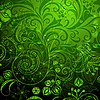 Vector clipart: Green floral pattern