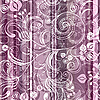 Vector clipart: Striped pink floral pattern