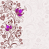 Vector clipart: Gentle floral easter card