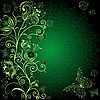 Dark green floral card