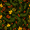 Vector clipart: Dark floral seamless pattern