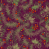 Dark purple floral seamless pattern