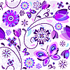Vector clipart: Seamless spring floral pattern