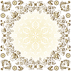 Vector clipart: Gold easter round frame